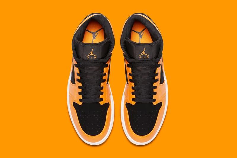 Air Jordan 1 Mid Orange Peel Release Shattered Backboard Black Toe
