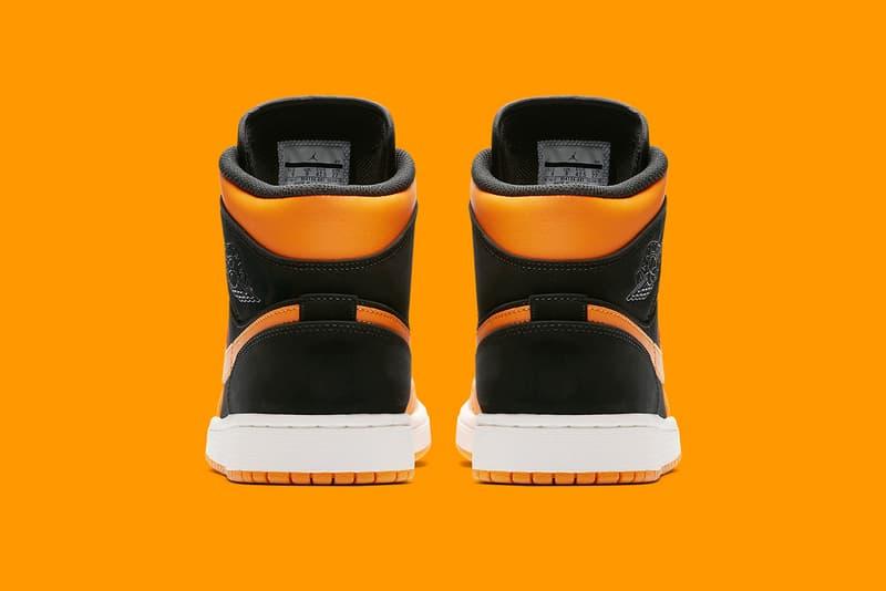 320d8a4b49c Air Jordan 1 Mid Orange Peel Release Shattered Backboard Black Toe