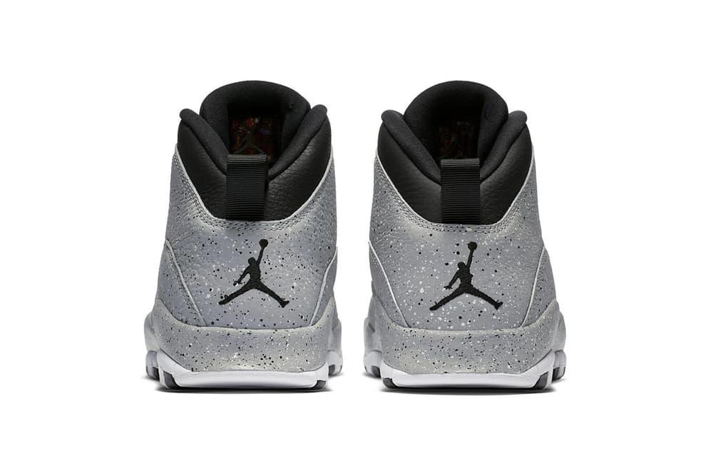 "Air Jordan 10 Retro ""Light Smoke"" Release date jordan brand info drop sneaker footwear black white grey speckled Michael jordan"
