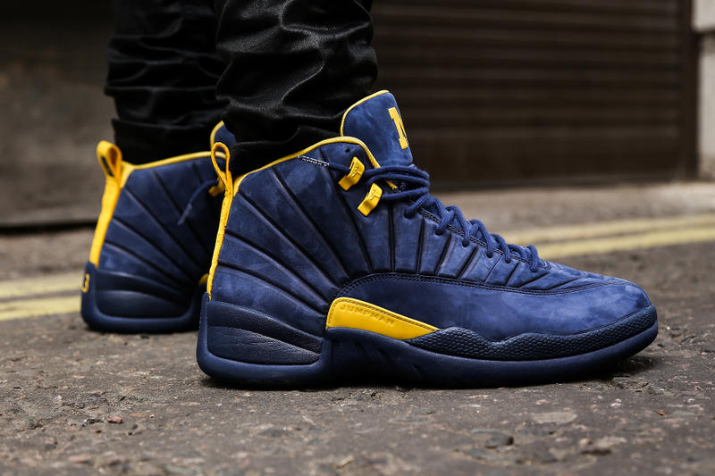 "Air Jordan 12 x Public School NY ""Michigan"" Friends & Family Closer Look Sneakers Kicks Shoes Trainers Collab Collaboration Rare Coming Releasing Soon"