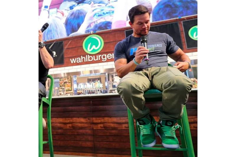 Mark Wahlberg Wahlburgers Air Jordan 4 green jordan brand sneakers footwear