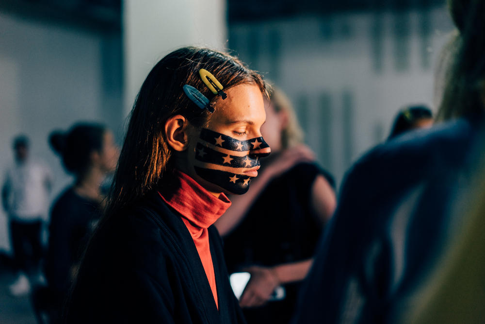 Alexander Wang Collection 1 makeup behind the scenes