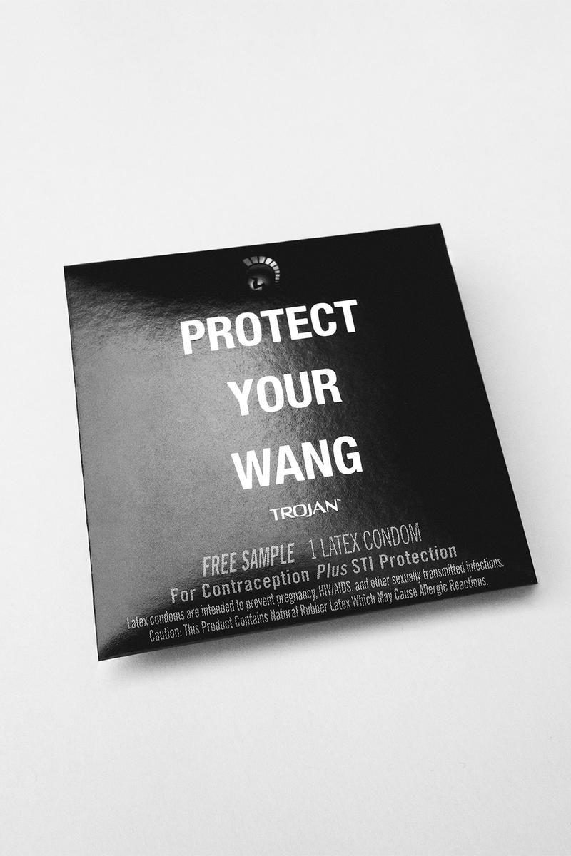 Alexander Wang Trojan 'Protect Your Wang' Capsule Collection Pride Apparel T-Shirt Socks Cap Bandana
