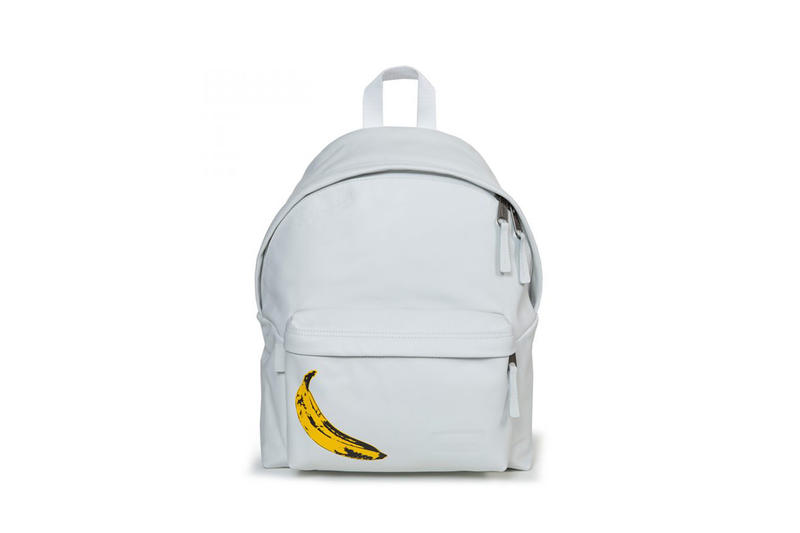 andy warhol eastpak second capsule bags packs travel items banana flowers artwork art