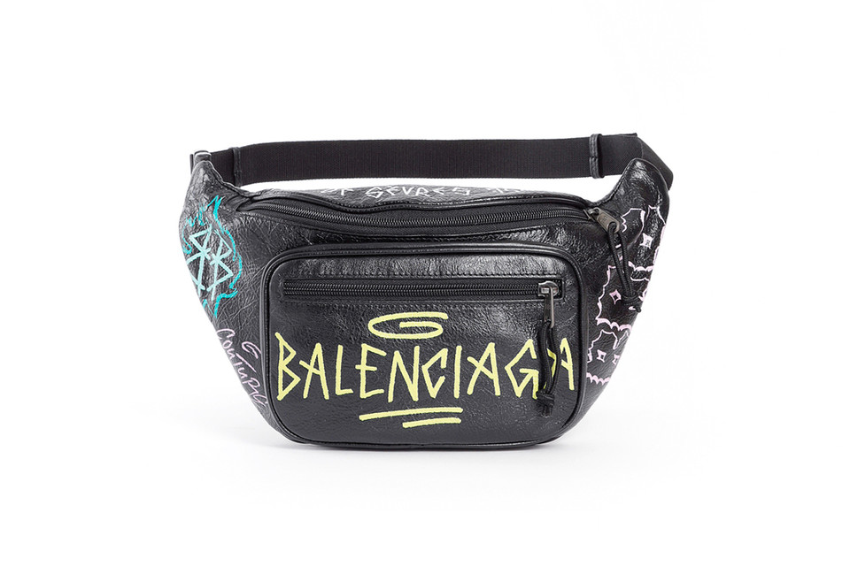 a95cccf4ea2 This Balenciaga Graffiti-Laced Fanny Pack Is Yours for  1