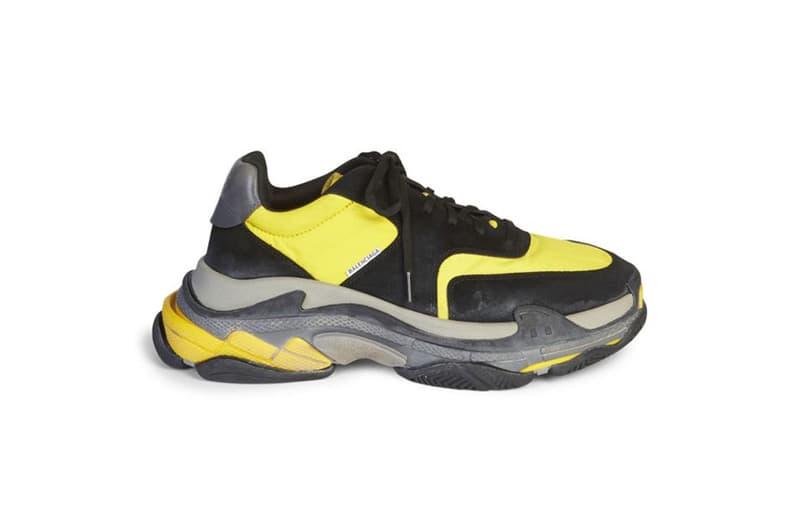 Balcneiaga Triple S black/yellow navy footwear luxury fashion 2018