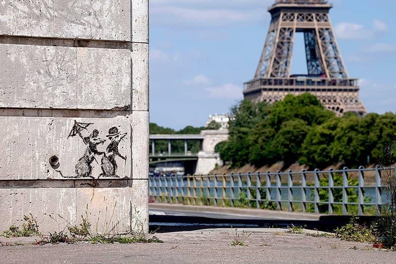 Banksy Paris France rat stencils eiffel tower Centre Pompidou