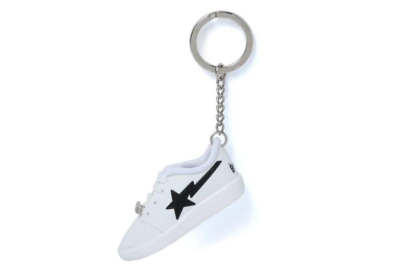 bape bape sta keychain white