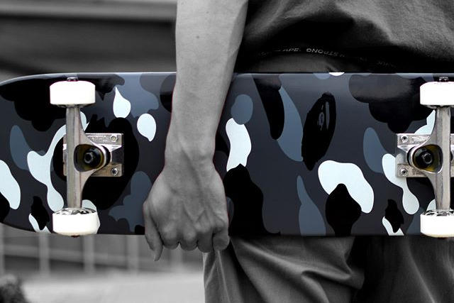 BAPE City Camo Skateboard