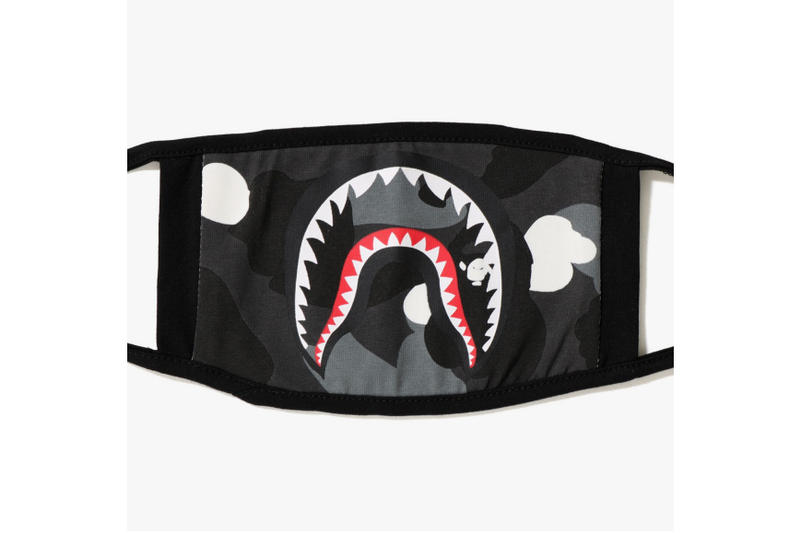 bape city camo shark mask black glow in the dark