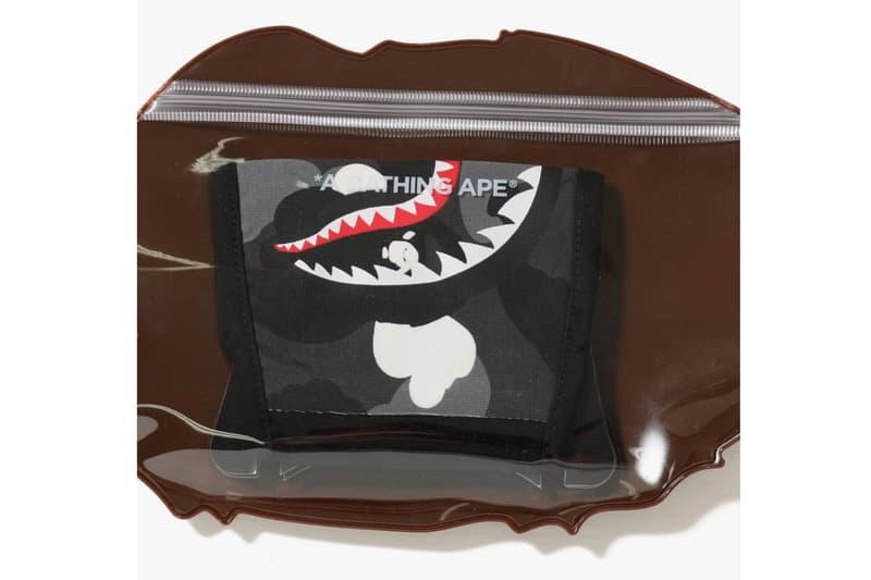 bape city camo shark mask black glow in the dark ape package