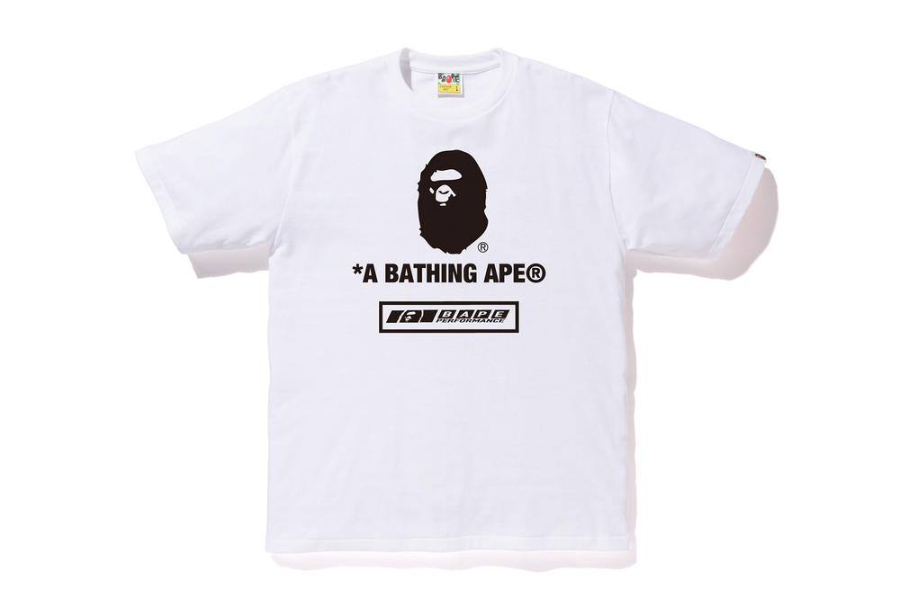 bape football soccer collection white tee