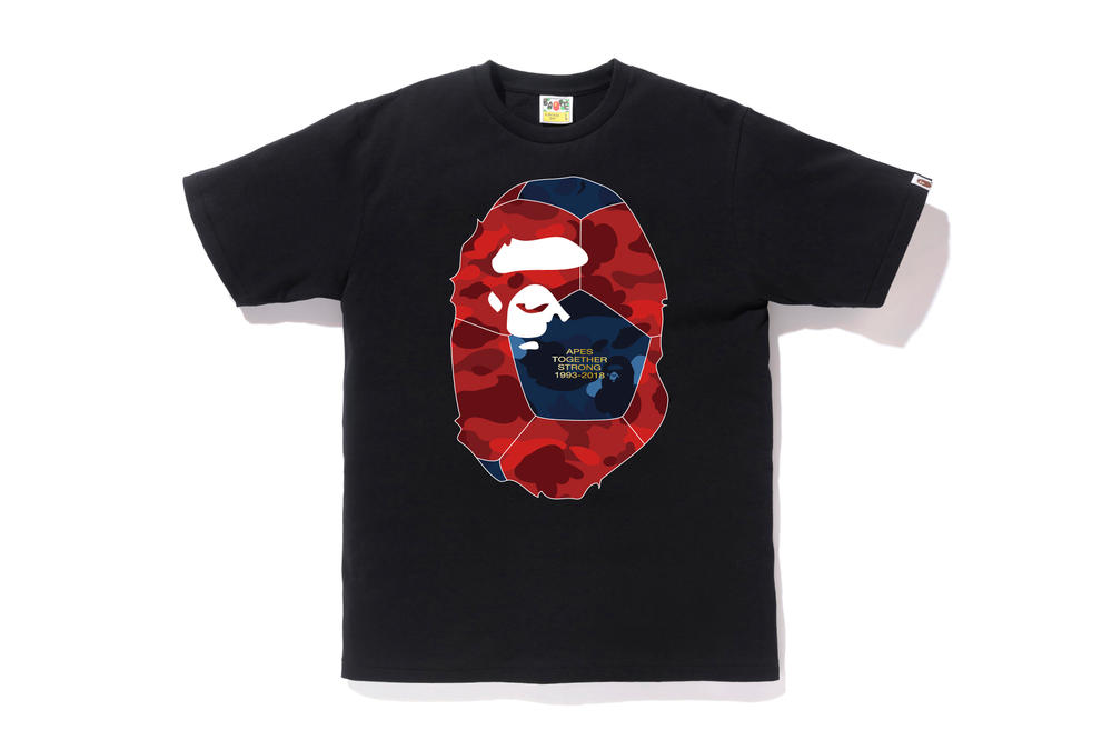 bape football soccer collection black camo tee