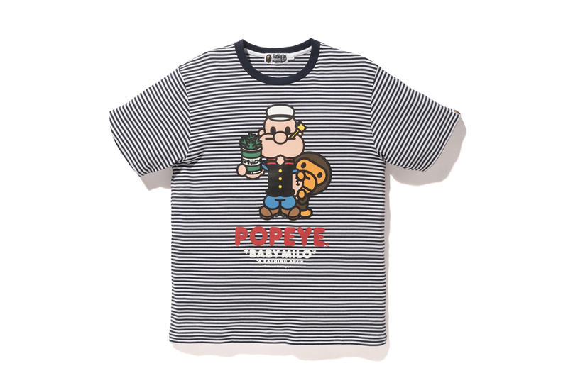 BAPE x Popeye 2018 Collection T-Shirts Hoodies Accessories Tote Bags Keychains Clocks Graphic Cartoon Cominc