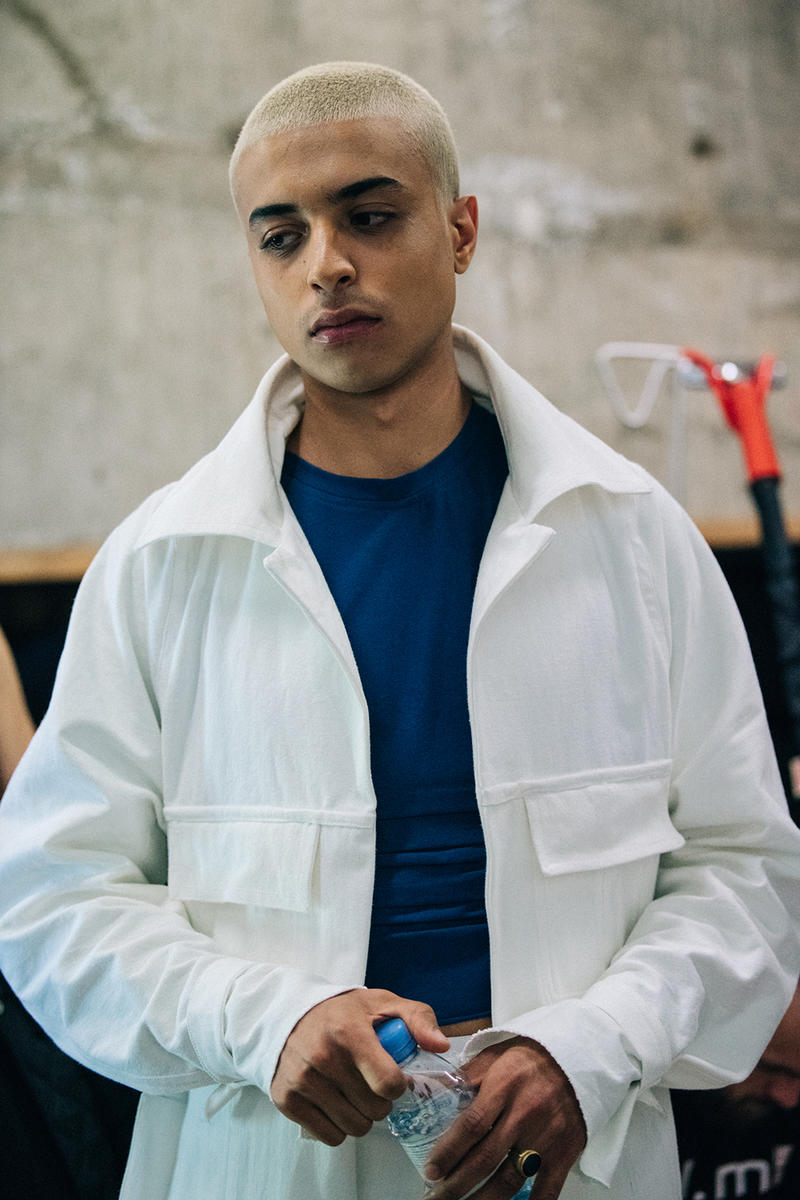 Bianca Saunders Spring/Summer 2019 Backstage LFWM London Fashion Week: Men's