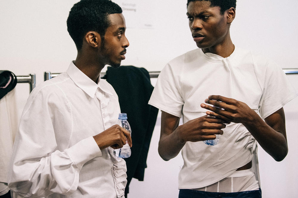 Bianca Saunders Spring/Summer 2019 Backstage LFWM London Fashion Week: Men's