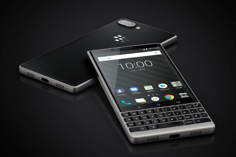 BlackBerry Key2 smartphone keyboard official unveiled introduced june 2018 tcl 649