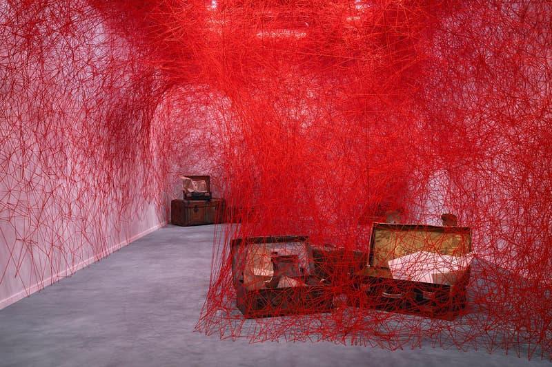 chiharu shiota turning world installation masterpiece london blain southern