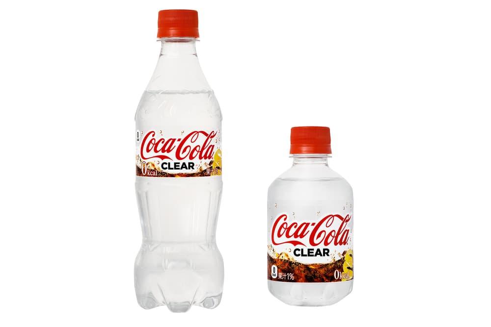 Clear Coca Cola Lemon Drink Japan Release Transparent Zero Calorie