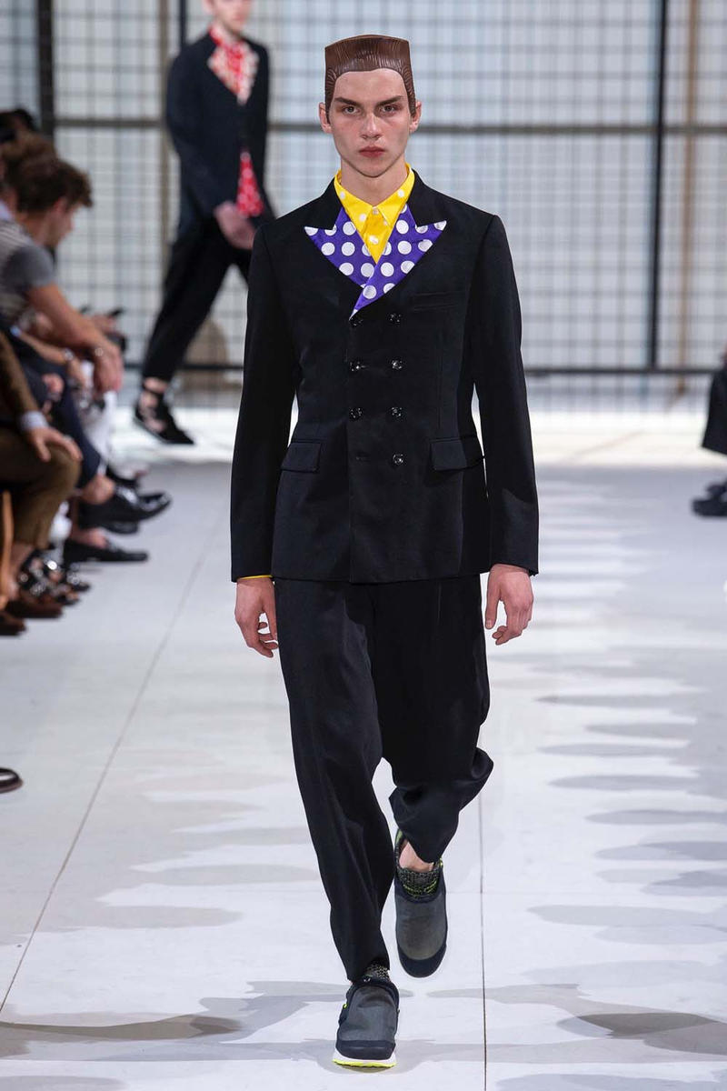 COMME des GARÇONS HOMME Plus nike collaboration spalwart presto boot deconstructed remake menswear spring summer 2019 runway paris fashion week