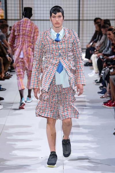 COMME des GARÇONS HOMME Plus nike collaboration spalwart presto boot deconstructed remake menswear spring summer 2019 runway paris fashion week