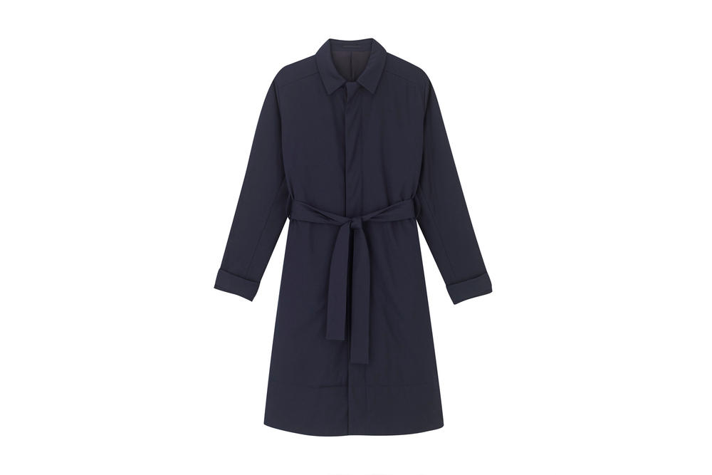 COS Soma collection navy coat