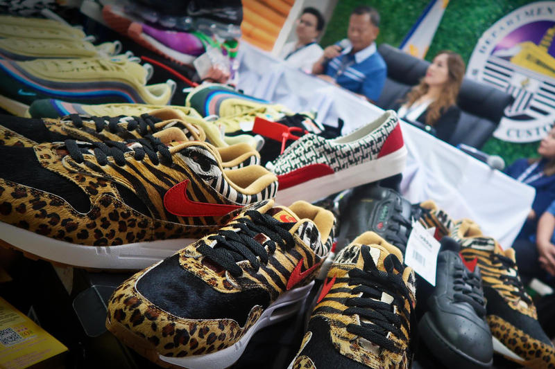 $750K USD Worth of Fake Sneakers Seized in Manila Philippines customs Ninoy Aquino International Airport Balikbayan reproduction hoax knock off