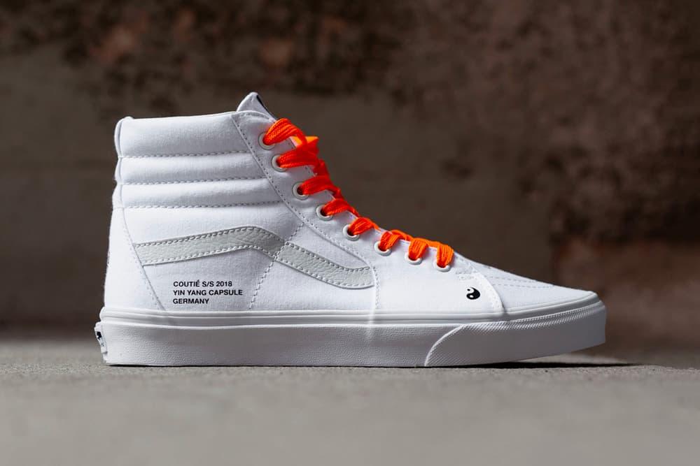 "Coutié Vans ""Yin Yang"" Sk8-Hi Collection apparel hoodie streetwear price release sneaker white t-shirt pants"