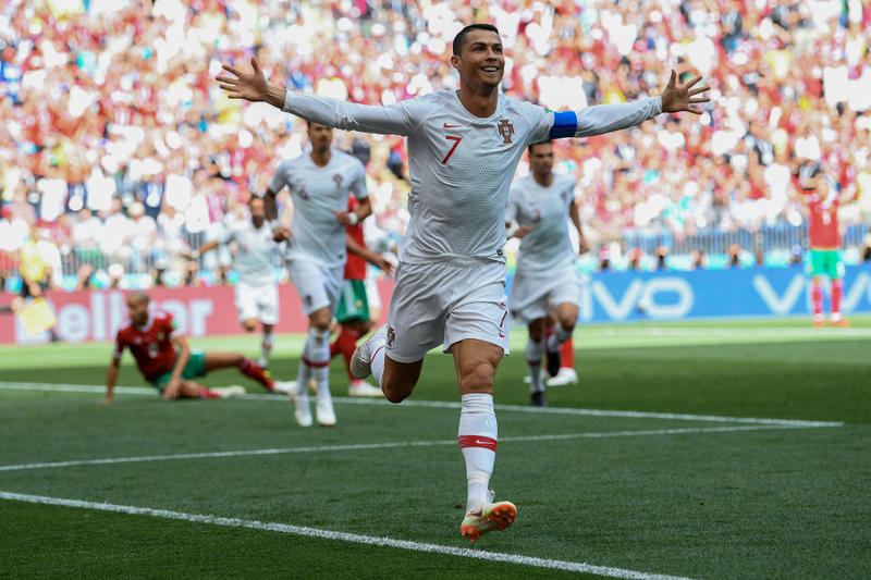 cristiano ronaldo europe european player most international goals goal scores scorer all-time leader history 2018 fifa world cup soccer football morocco june 20
