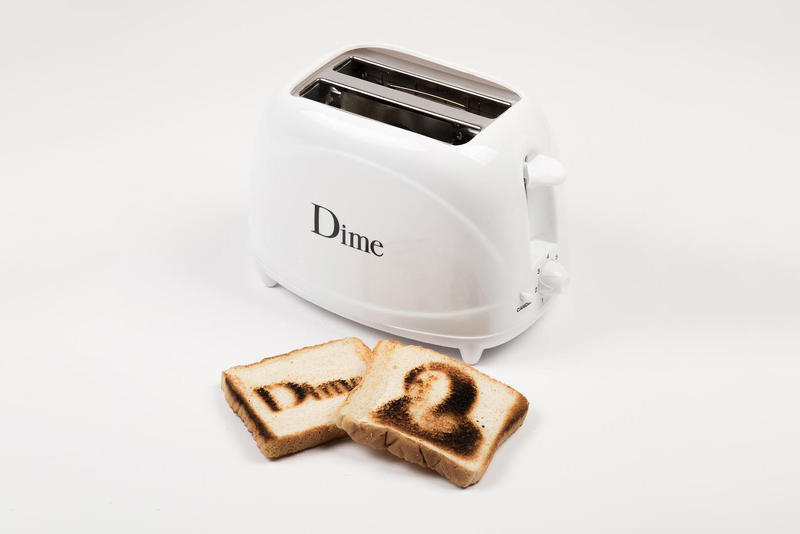 dime toaster branded white logo june 16 18 2018 drop release date info