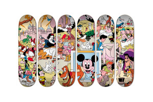 """Disneyland Memorial Orgy"" by 'MAD' Cartoonist Wally Wood Gets Printed on Skateboards"