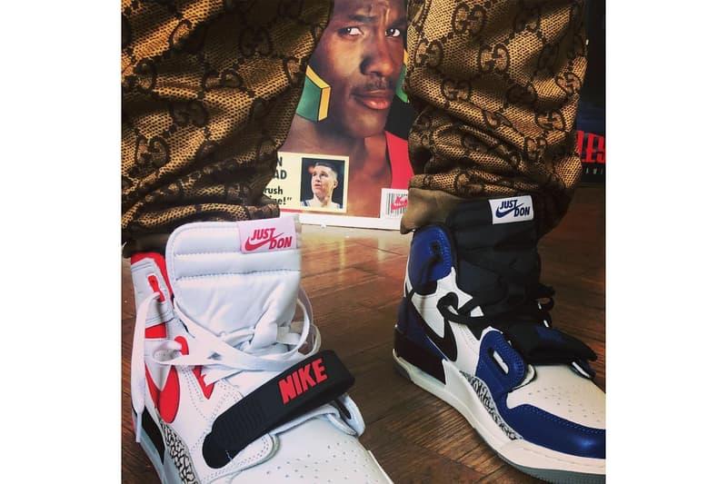 Just Don Don C Jordan Legacy 312 Split Colorway Jordan brand sneaker Air Jordan red blue release date chicago