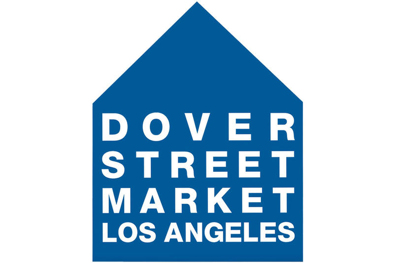 dover street market los angeles open website launch soon premiere page logo blue