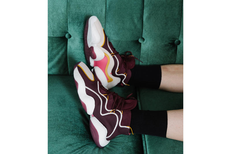 Eric Emanuel adidas Crazy BYW sneakers footwear burgundy white yellow pink