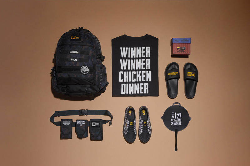 548031b7679b FILA PUBG PlayerUnknown s Battlegrounds Slides Sneakers T-Shirt Backpack  Waist Bag