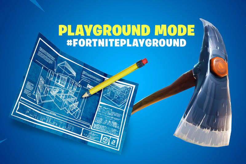 Fortnite Four-Player Playground Practice Mode Epic Games