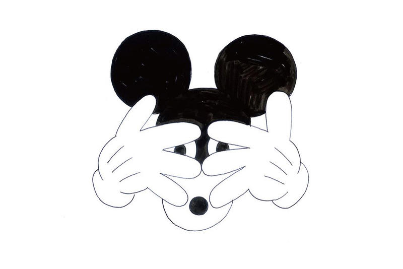 geoff mcfetridge uniqlo mickey mouse artwork clothing fashion drawings sketches