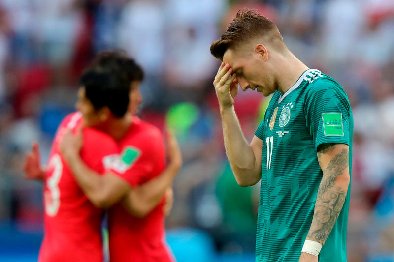 The defending champions get knocked out by South Korea. germany south korea  loss 5dff04920