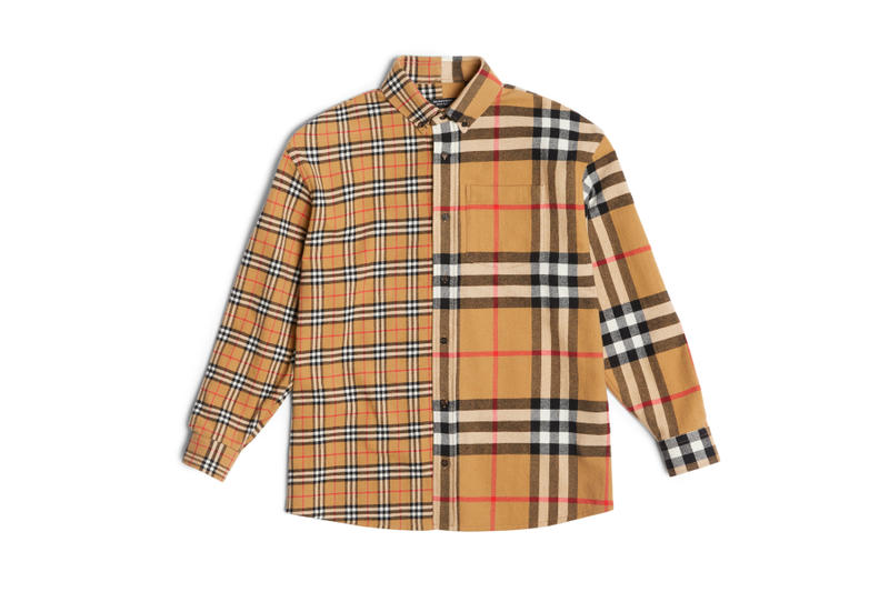 Gosha Rubchinskiy Burberry Fall/Winter 2018 collection collaboration check plaid shirt coat jacket