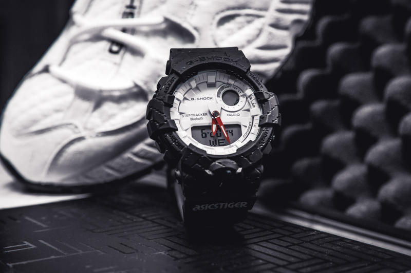 asics gel mai knit g shock collaboration sneaker watch shoe footwear 43einhalb collectors edition case logo GBA-800AT-1AER june 30 2018 drop release date info tiger collection 24 limited edition