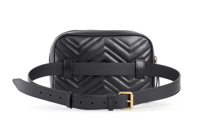 Unisex Gucci Fall Winter 2018 Fanny Pack black leather accessories release info