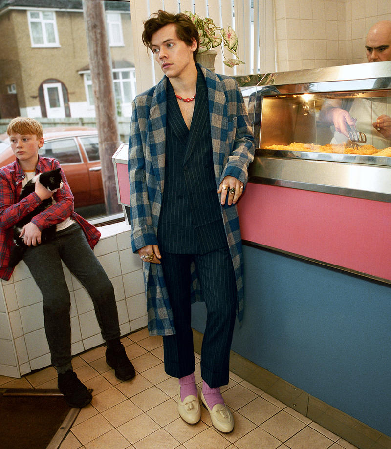 Harry Styles Gucci Fall/Winter 2018 Tailoring Campaign Glen Luchford Alessandro Michele Lookbook Imagery Details Suits