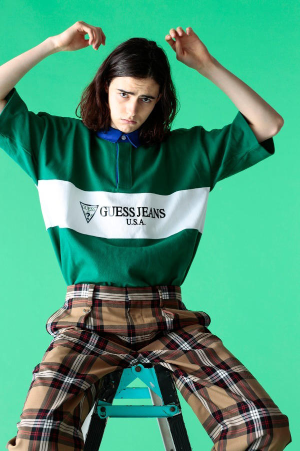 GUESS GREEN LABEL monkey time beauty youth united arrows Spring Summer 2018 Collaboration tee shirt polo logo rugby