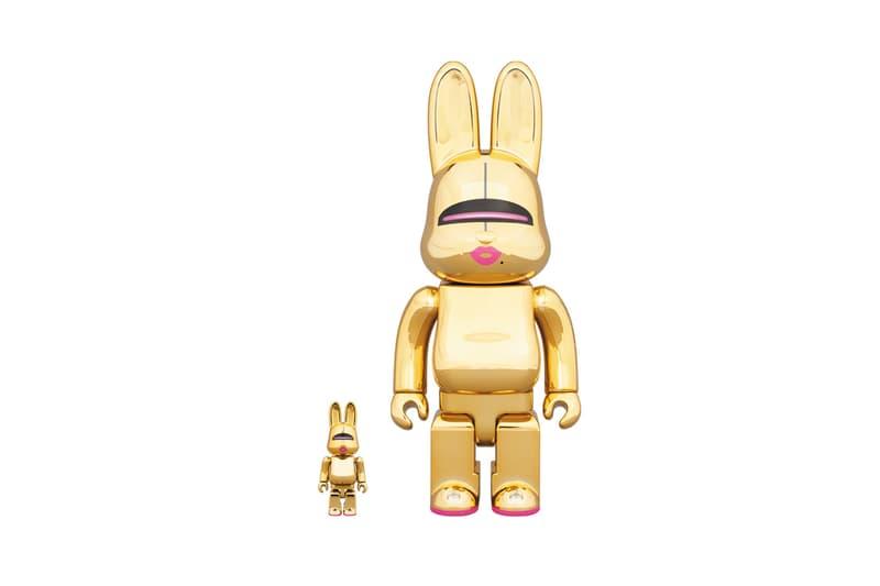 hajime sorayama medicom toy bearbrick rabrick gold collectible vinyl figures