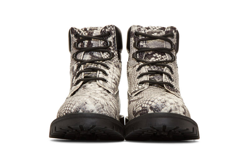 Heron Preston Fall Winter 2018 Boots black python snakeskin release info