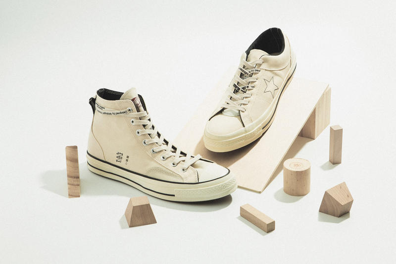 99ce6b81014 Midnight Studios x Converse Collaboration high-top Chuck Taylor Inside out  off white colorway One