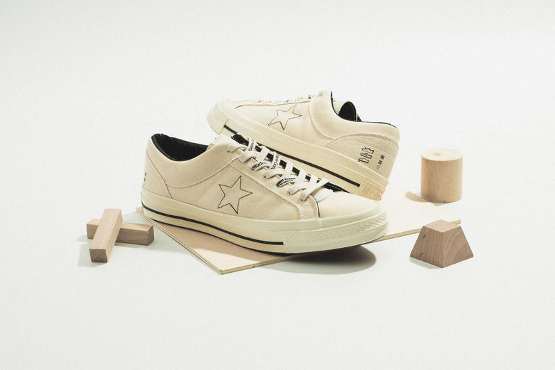0d1c2c076e79 Midnight Studios x Converse Collaboration high-top Chuck Taylor Inside out  off white colorway One