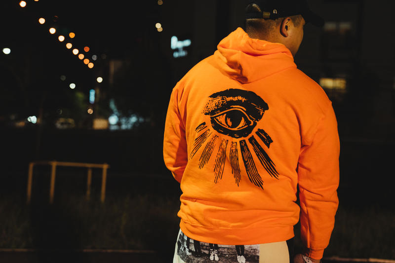 hypebeast nas nasir listening party kanye west merch hoodie digital album orange