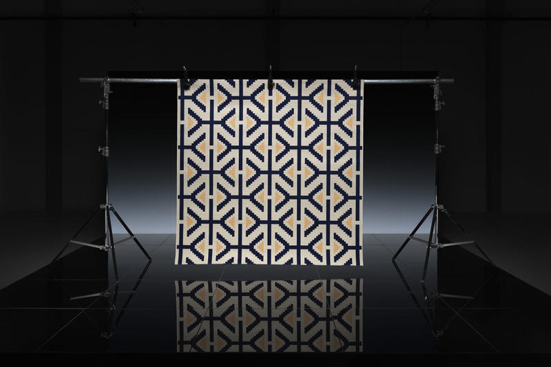 ikea art event 2019 rugs handmade limited edition Supakitch Chiaozza Noah Lyon Seulgi Lee Filip Pagowski beige blue pattern