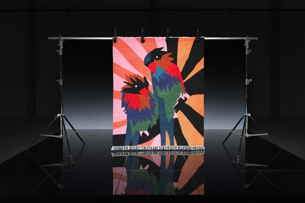 ikea art event 2019 rugs handmade limited edition craig green orange black pink